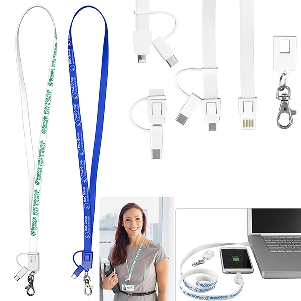 Layton 3-in-1 Lanyard Cell Phone Charging Cable